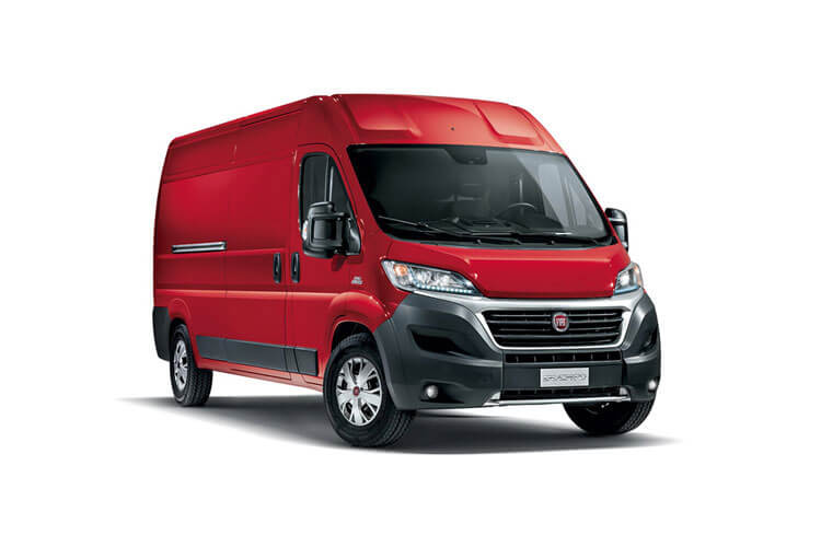 Fiat Ducato e-Ducato 35 XLB LWB Elec 47kWh 90KW FWD 122PS  Van High Roof Auto [7kW&50kW Rapid Charger] front view